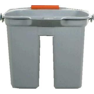 Rubbermaid 2628-88-GRAY Double Plastic Pail Gray