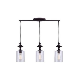 "Canarm IPL586A03 York 3 Light 27-1/4"" Wide Linear Pendant"