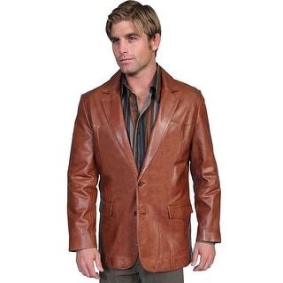 Scully Western Blazer Mens Lambskin Button Back Vent Brown 501-189