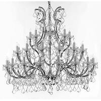 Chandelier Crystal Chandeliers Lighting Trimmed With Spectra Crystal - Reliable Crystal Quality By Swarovski - Silver