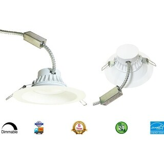 """LED 8"""" inch Canless Downlight 30W; 120-277V; 2,800 Lumens; CRI>83; Dimmable; Damp Loaction; 50,000 Life Hours"""