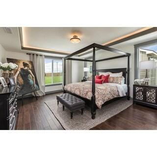 LYKE Home Black Sora Canopy Bed