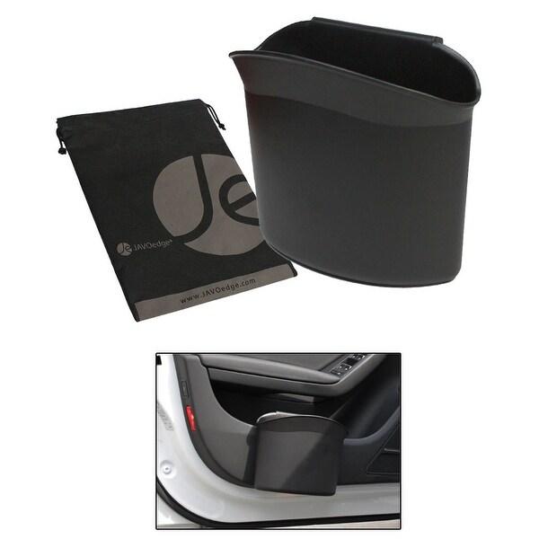 JAVOedge Black Car Side Door Panel Clip on Bottle / Trash Holder wih Bonus Drawstring Bag