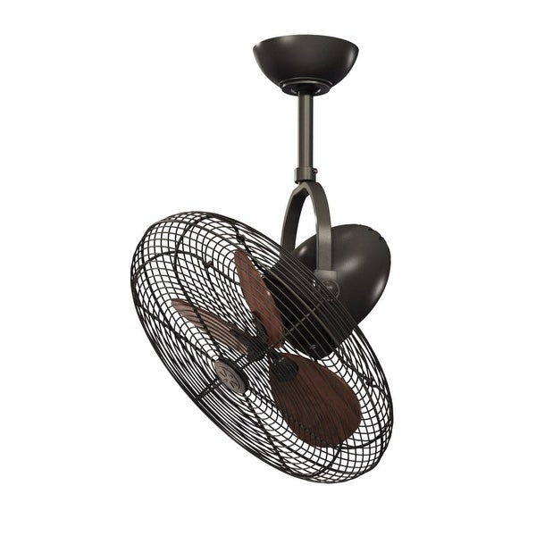 """Vaxcel Lighting ELSTON18 Elston 18"""" 3 Blade Ceiling Fan with Cage"""