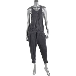 Stateside Womens Pima Cotton V-Neck Jumpsuit - L
