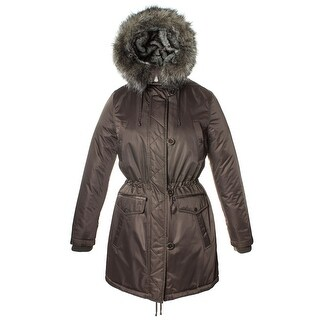 Laundry By Design Womens Hooded Zip Front Jacket With Trim