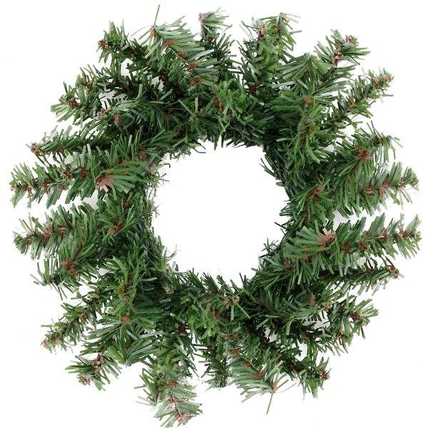 "5"" Mini Pine Artificial Christmas Wreath - Unlit - green"