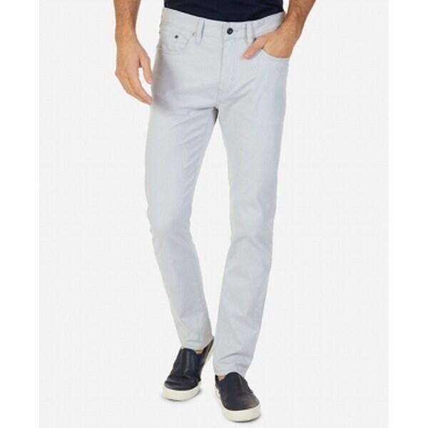 Nautica Gray Mens Size 33x30 Classic Straight Leg Stretch Jeans