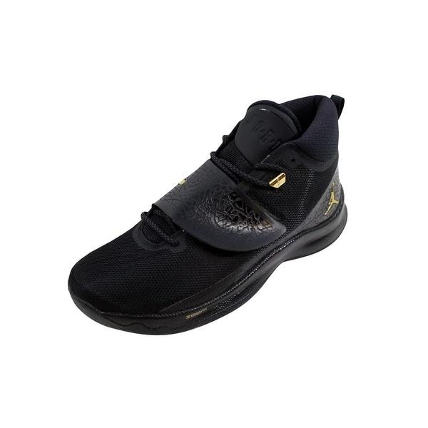 6ca682420f Shop Nike Men s Air Jordan Super Fly 5 PO Black Metallic Gold 881571 ...