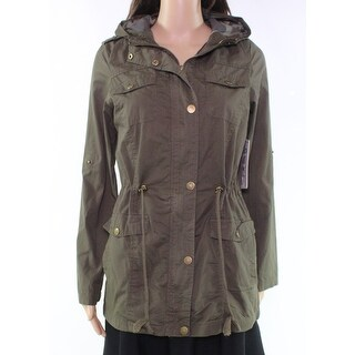 YMI Green Olive Womens Size Small S Full-Zip Military Hooded Jacket