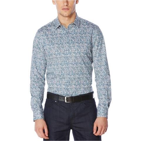 Perry Ellis Mens Performance Button Up Shirt