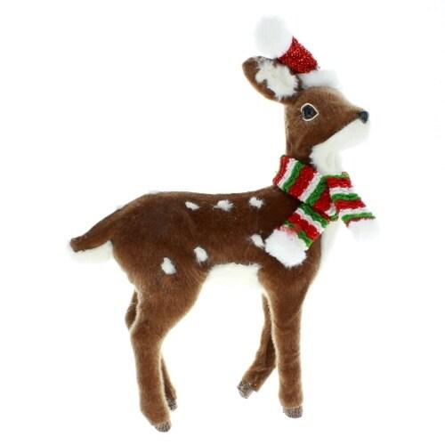 Deer with Santa Hat