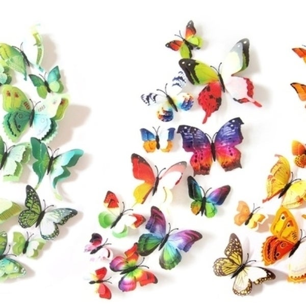 Double Wing Butterfly- Set of 12
