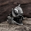 Vienna Jewelry The King's Warrior Stainless Steel Ring - Thumbnail 1