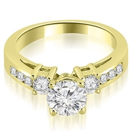 1.35 cttw. 14K Yellow Gold Prong Set Round Cut Diamond Engagement Ring