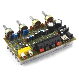 Unique Bargains DC 12V-15V 200W LFE Hi-Fi Audio Stereo Power Amplifier Board for Car Vehicle