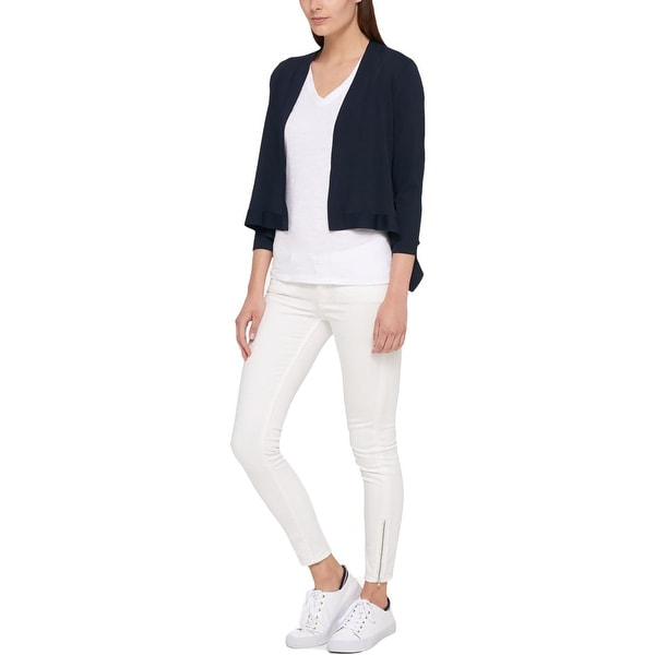 12ab788961a Shop Tommy Hilfiger Womens Shrug Sweater Peplum Three-Quarter Sleeves -  Free Shipping On Orders Over  45 - Overstock - 21248591