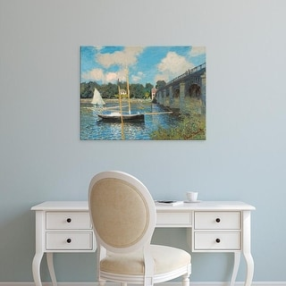Easy Art Prints 's 'The Bridge at Argenteuil, 1874' Premium Canvas Art