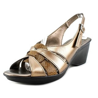 Spring Step Adorable Women Open Toe Synthetic Bronze Sandals
