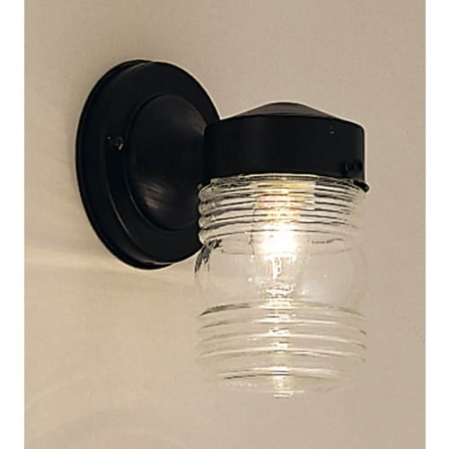 "Designers Fountain 2061-BK 1 Light 4.5"" Jelly Jar Wall Light"