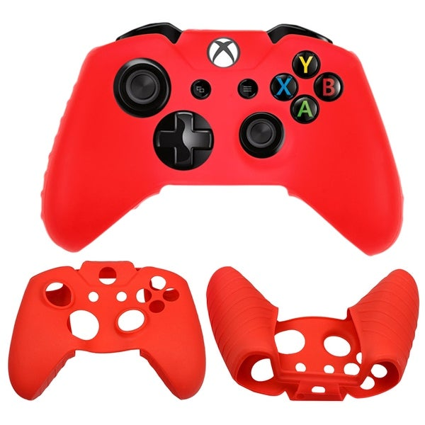 Soft Silicone Protective Case for Microsoft XBOX ONE Controller Video Game Cover High Quality Gel Rubber Console Case RED