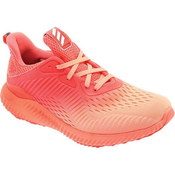 16fb8a99f Shop adidas Women s AlphaBOUNCE EM Running Shoe Coral Sunglow Grey ...