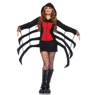 Cozy Black Widow Spider Adult Costume