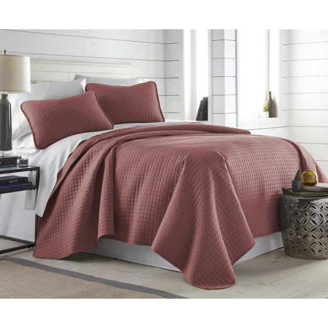 Oversized Solid 3-piece Quilt Set by Southshore Fine Linens - Marsala - Twin - Twin XL