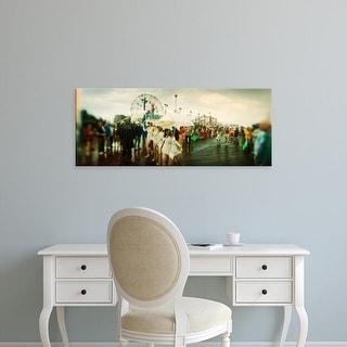 Easy Art Prints Panoramic Image 'Coney Island Mermaid Parade, Coney Island, Brooklyn, New York City' Canvas Art