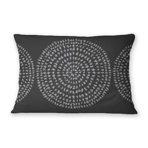 SAVANNA CHARCOAL Indoor Outdoor Lumbar Pillow By Kavka Designs
