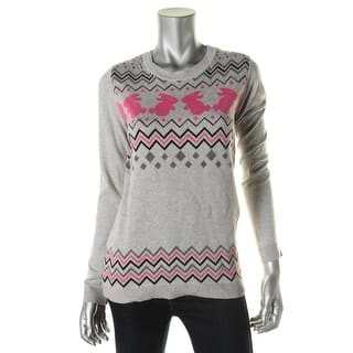 eric + lani Womens Juniors Pullover Sweater Graphic Fair Isle|https://ak1.ostkcdn.com/images/products/is/images/direct/fafecb641d73d0d4c14feb206755b46281c512a8/eric-%2B-lani-Womens-Juniors-Graphic-Long-Sleeves-Pullover-Sweater.jpg?impolicy=medium