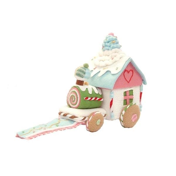 """10"""" Glittery Pastel Plush Christmas Candy Train #16295"""