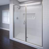 "Basco A3141-47XP Infinity 68-5/8"" High x 47"" Wide Hinged Framed Shower Door with AquaGlideXP Clear Glass"