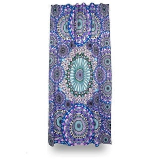 Cotton 3D Ring of Water Curtain Drape Panel - 56 x 85 inches
