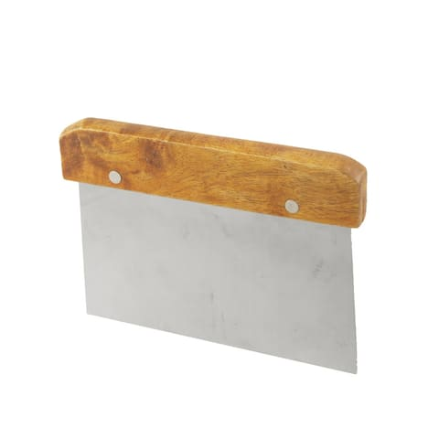 Unique Bargains Stainless Steel Scraper Wooden Grip Cake Pastry Scraper Cutter