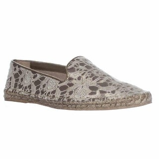 Cole Haan Palermo Espadrille Loafer Flats - Metallic Lace