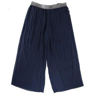 Alfani NEW Modern Navy Blue Women's Size Small S Pull-On Pleated Pants