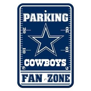 FREMONT DIE Inc Dallas Cowboys Plastic Parking Sign - Fan Zone Plastic Parking Sign - Fan Zone