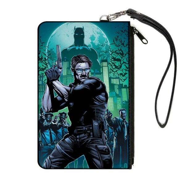 The New 52 Detective Comics Issue #25 James Gordon Cover Pose Blues Greens Canvas Zipper Wallet
