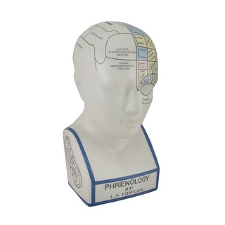 Link to Large Phrenology Head with Color Trait Map Ceramic Coin Bank - 12 X 5.5 X 5.5 inches Similar Items in Collectibles