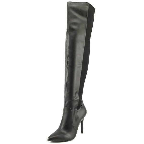 Charles By Charles David Paso Women Pointed Toe Leather Black Over the Knee Boot