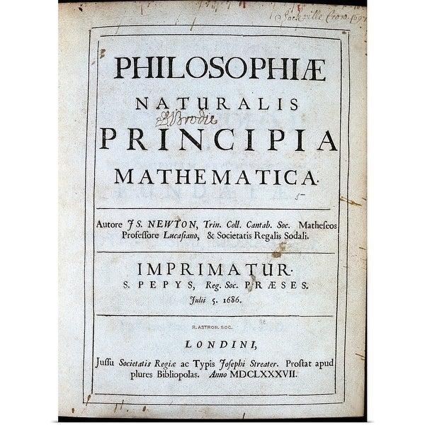 Shop Title page of Isaac Newton's Philosophiae Naturalis Principia