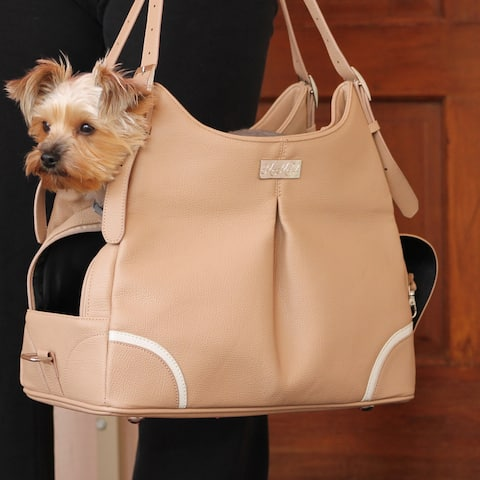Madison Mia Michele Mocha Dog Carry Bag - Madison Mia Michele Mocha Faux