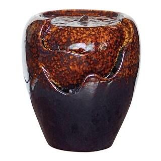Design Toscano  Burnt Umbra Ceramic Jar Garden Fountain