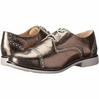 Cole Haan NEW Silver Gramercy Size 5W Oxfords Leather Shoes