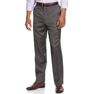 Sean John Mens Gray Shiny Pindot Dress Pants 32 x 30 Flat Front Trousers