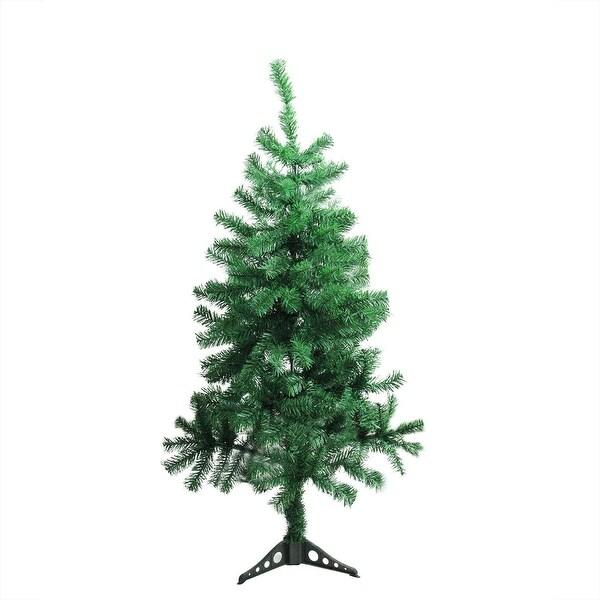"4' x 25"" Mixed Green Pine Medium Artificial Christmas Tree - Unlit"
