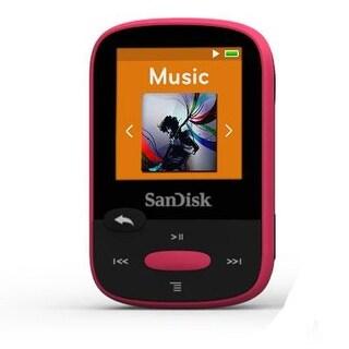 Sandisk Sdmx24-008G-A46p 8Gb Clip Sport Mp3 Player, 1.44 Lcd Display, Pink