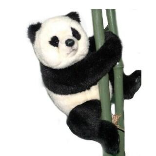 "12"" Life-Like Handcrafted Extra Soft Plush Panda Bear Stuffed Asian Animal - White"