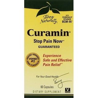 Terry Naturally Curamin Stop Pain Now - 60 Capsules - Experience safe and effective pain relief - Clinically studied